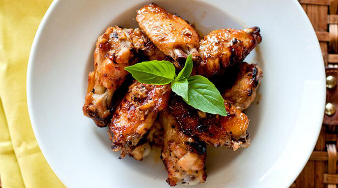 Honey and Ginger Wings