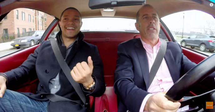 Trevor Noah with Jerry Seinfeld