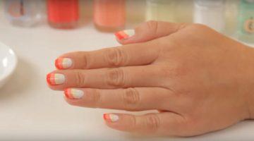 essie Sunbrella nail art