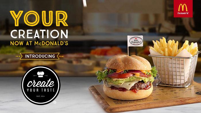 Mc Donalds Create Your Taste