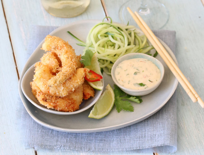 Coconut prawns recipe