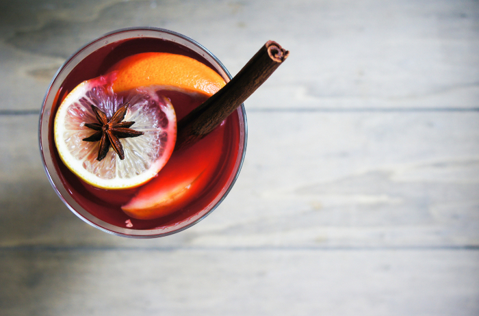 winter sunset cocktail