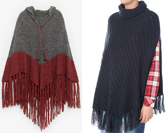Winter poncho trend