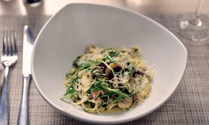 Mushroom pasta dish