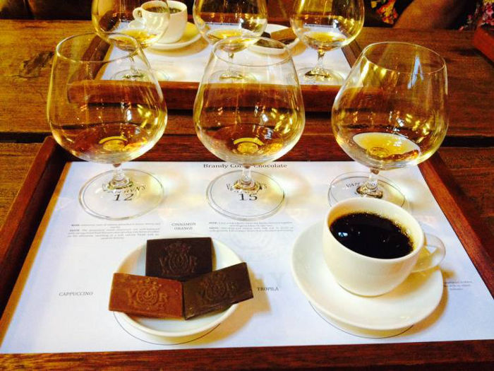 Sweets and brandy pairing