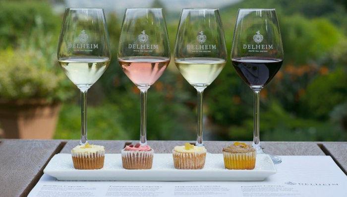 Delheim cupcake & wine pairing