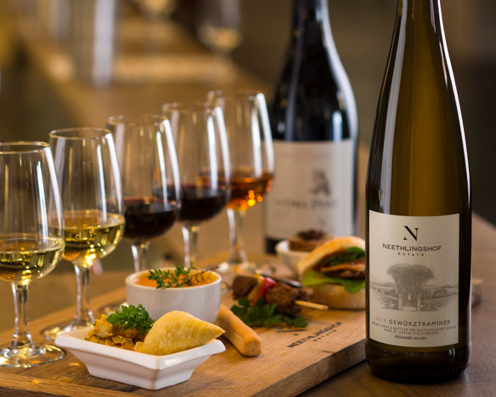 Flash food pairing at Neethlingshof Wine Estate