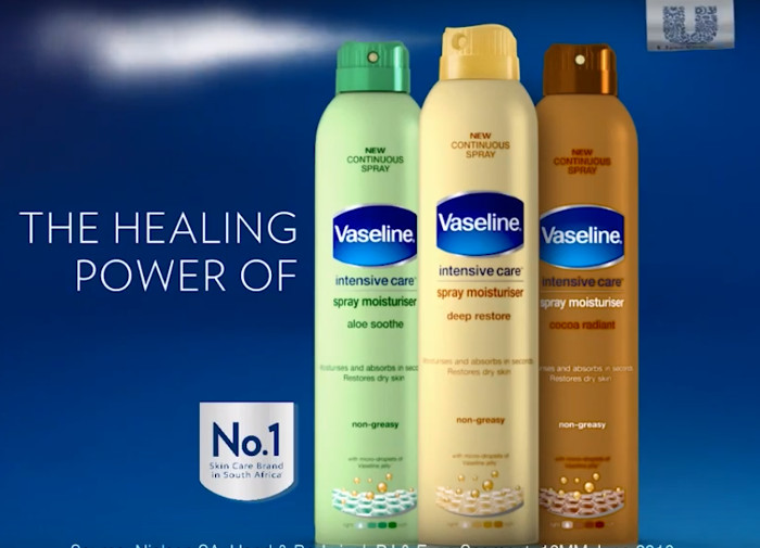 vaseline care spray
