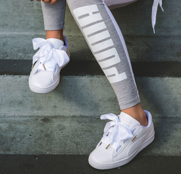 Puma Basket Satin Bow