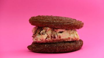 Churro ice cream sandwich