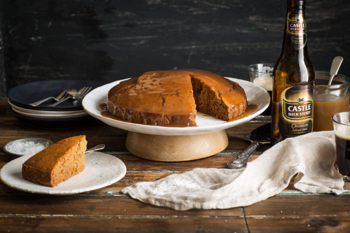 Triple ginger and stout cake
