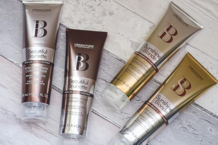 Creighton's Beautiful Brunette Shampoo and Conditioner.