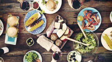 Food table feast