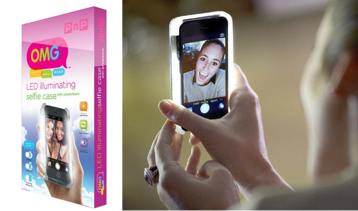 OMGi LED selfie case