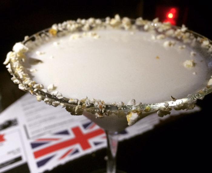 Salted Caramel & Popcorn Martini