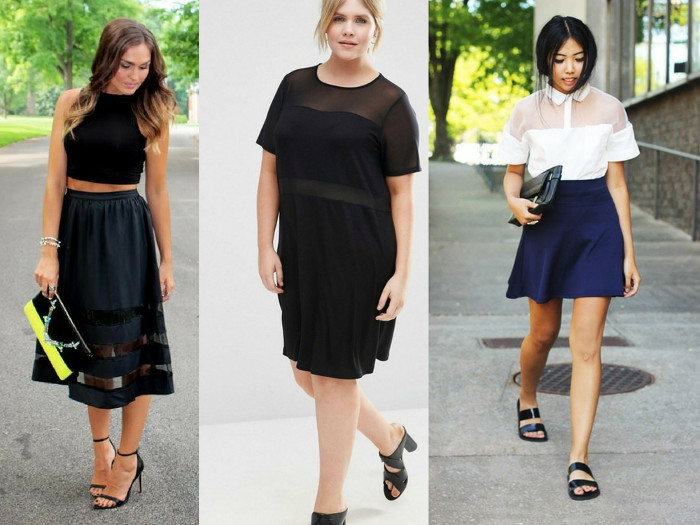 Lace mesh trend