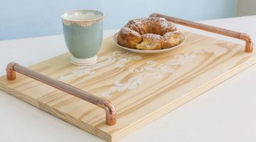Copper Wood tray