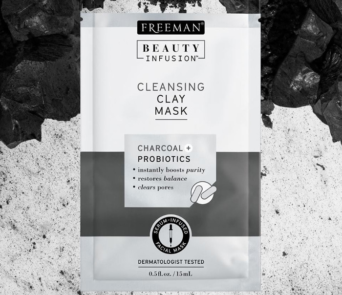reeman Beauty Infusion Cleansing Clay Mask with Charcoal