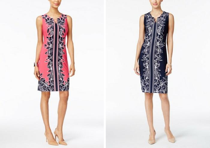 JM Collection Floral-Print Sheath Dress