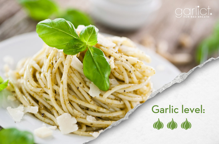 Parmesan, Basil and Garlic Spaghetti