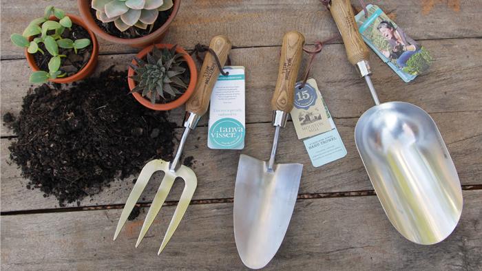 Tanya Visser gardening