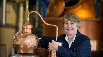 Lesley Gracie Master Distiller at the Hendrick's Distillery