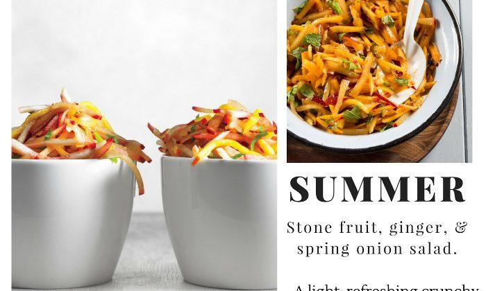 summer salad stone fruit