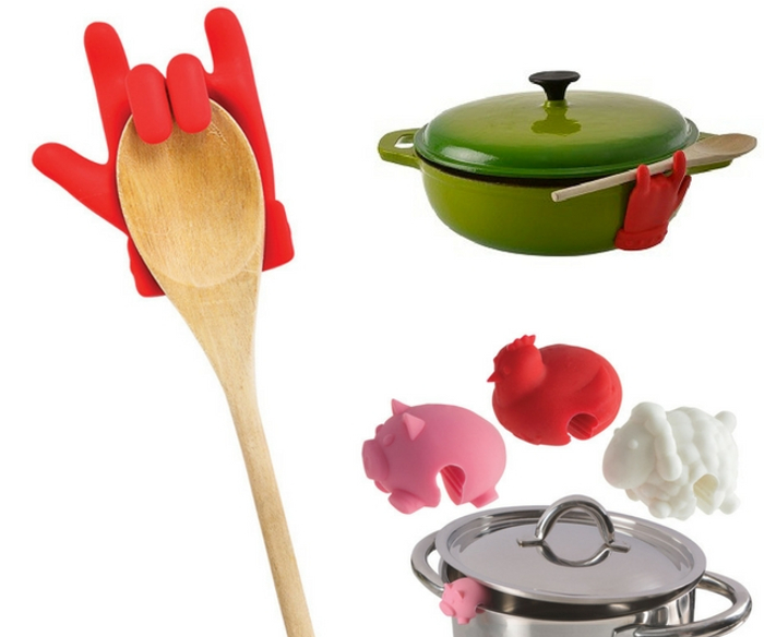Silicone Hand Lid Lifter and Spoon Rest