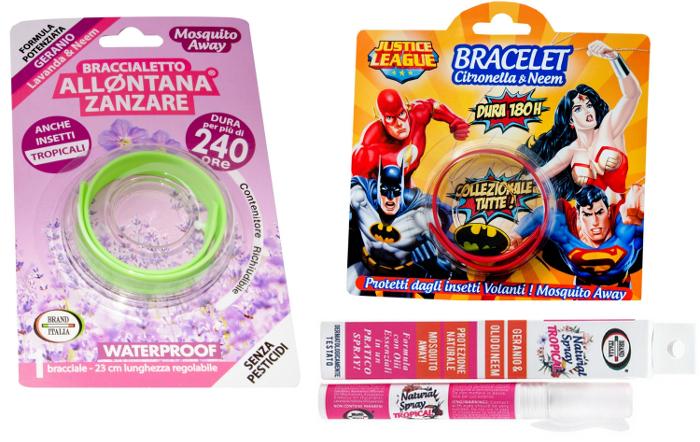 Brand Italia Mosquito Away Bands & Sprays