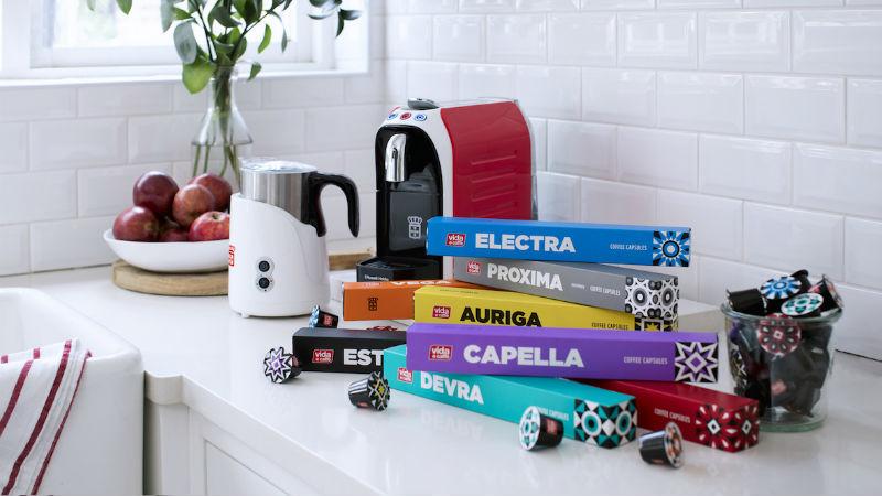 Vida coffee machine header