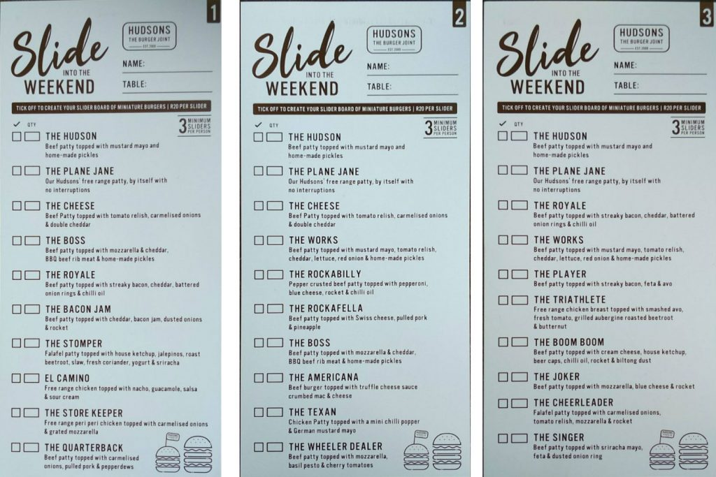 Hudsons 'Slide into the Weekend' special