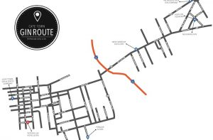 Cape Town gin route map