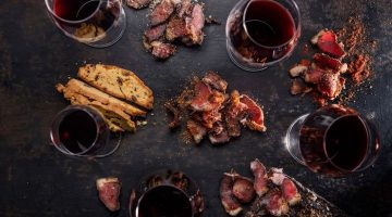 wine and biltong pairing Alto
