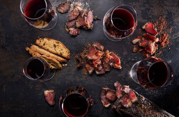 wine and biltong pairing Alto