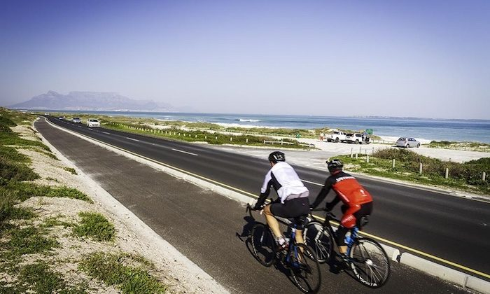 west coast cycling route