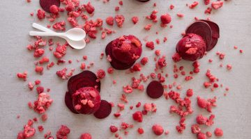 raspberry beetroot sorbet