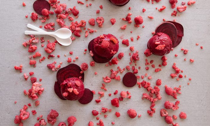 raspberry beetroot sorbet