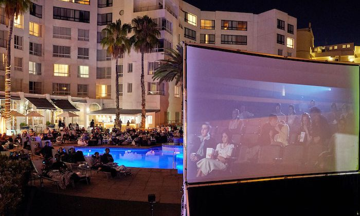 The President Hotel open air cinema
