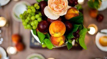 summer fruit table decor