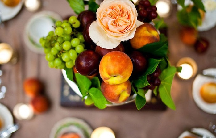 summer fruit table decor