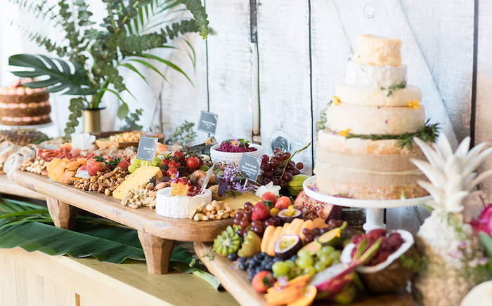 wedding food trends 2019