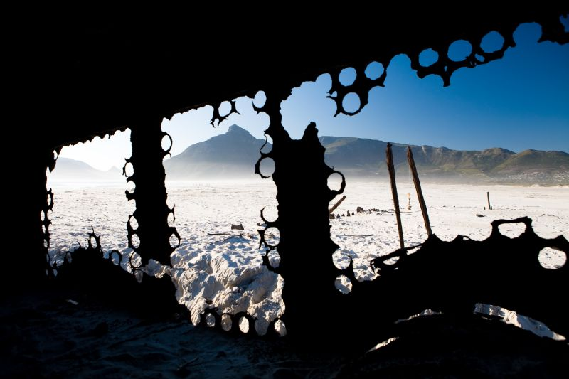 Kakapo Shipwreck, Noordhoek, Cape Town. Photo. Peter Haarhof