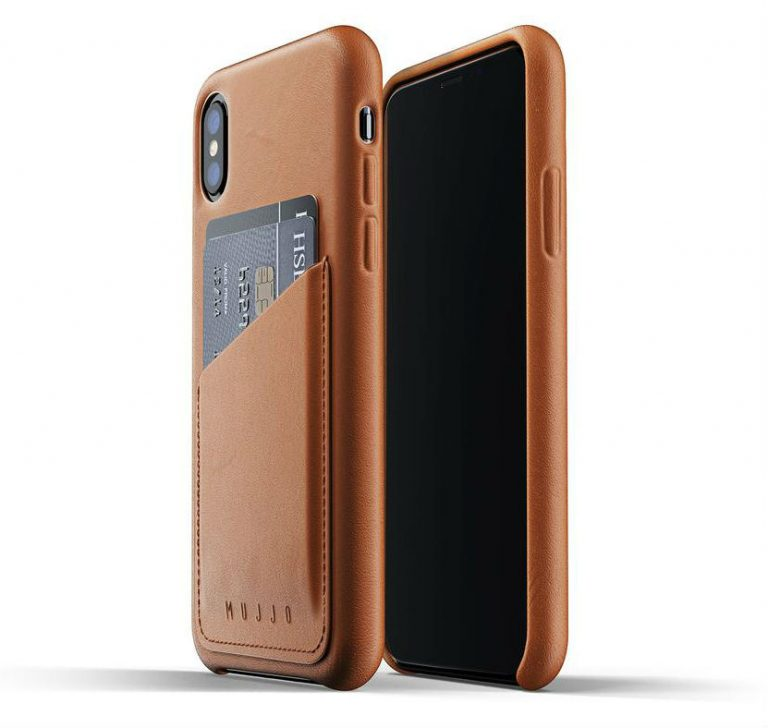 Mujjo' full-grain leather crafted iPhone pouch
