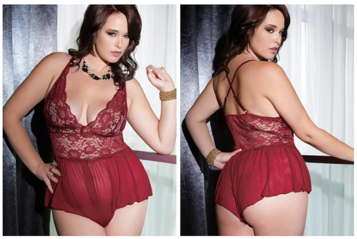 Coquette Lingerie Lace And Mesh Teddy