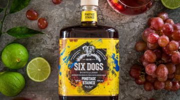 six Dogs Pinotage Stained Gin