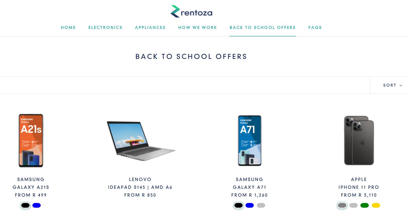 Rentoza back to school deals