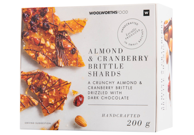 Handcrafted Almond & Cranberry Brittle Shard