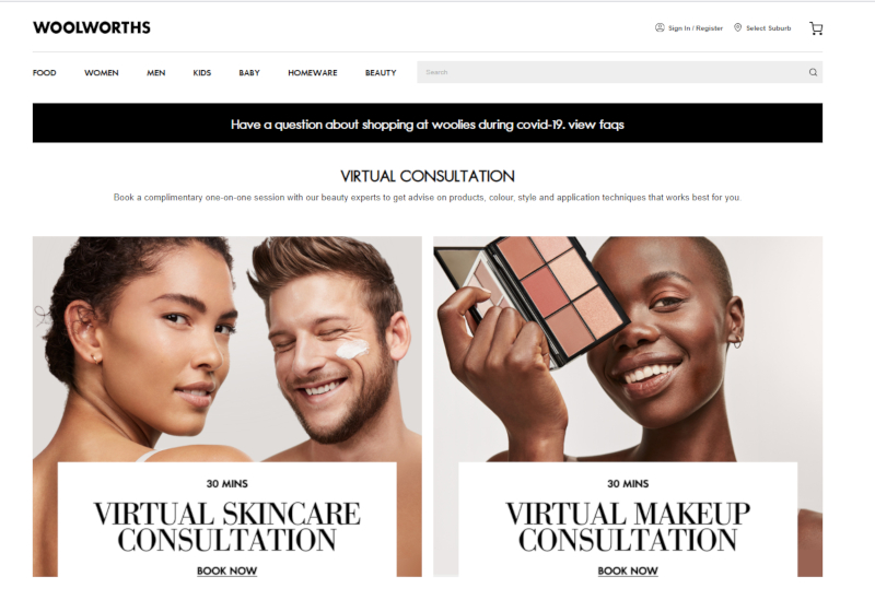Woolworths Virtual Try On and Virtual Consultations