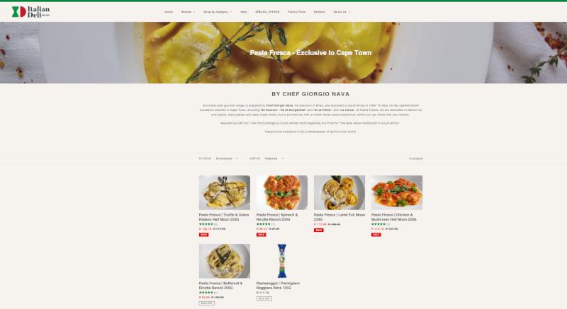 Chef Giorgio Nava Pasta Fresca range